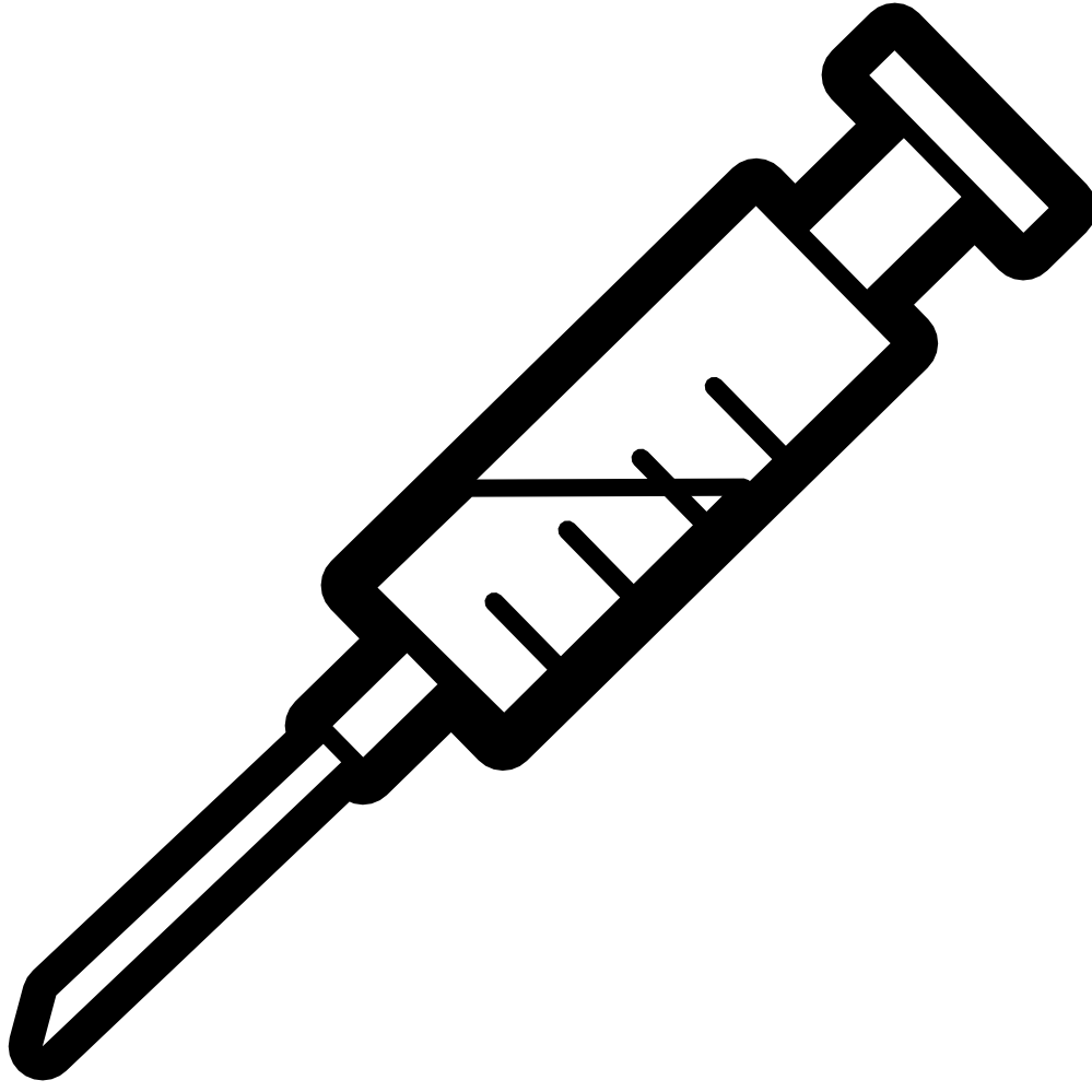 Hypodermic needle clipart.
