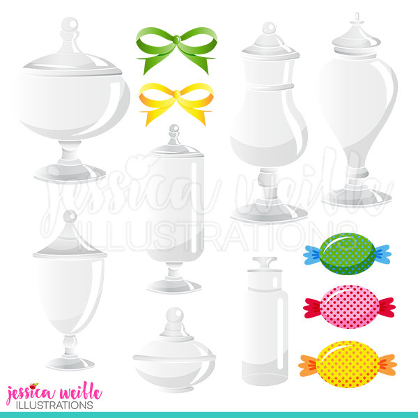Candy jar clipart.