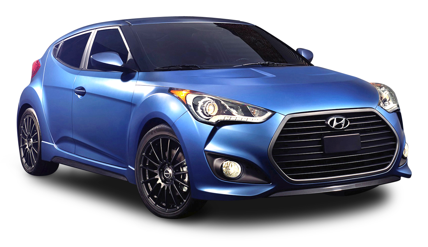 Blue Hyundai Veloster Rally Car PNG Image.