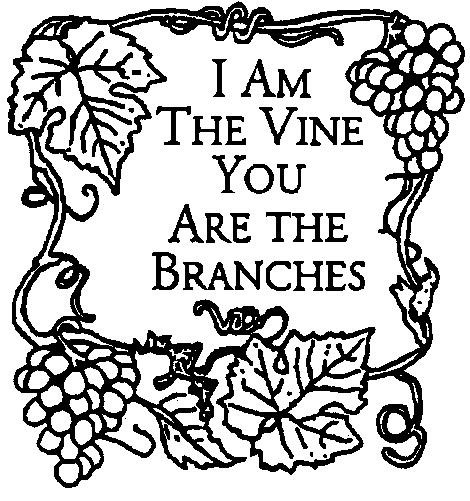 I Am The Vine Coloring Pages.