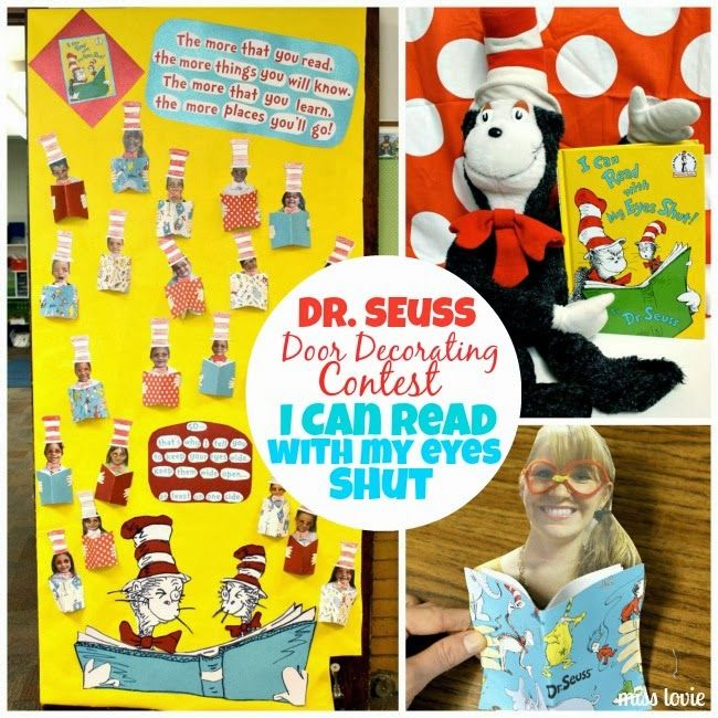 Miss Lovie: Dr. Seuss Door Decoration: I Can Read With My.