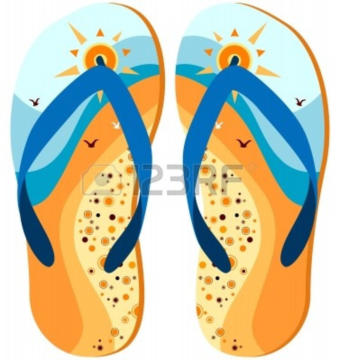 Beach Slippers Clip Art.
