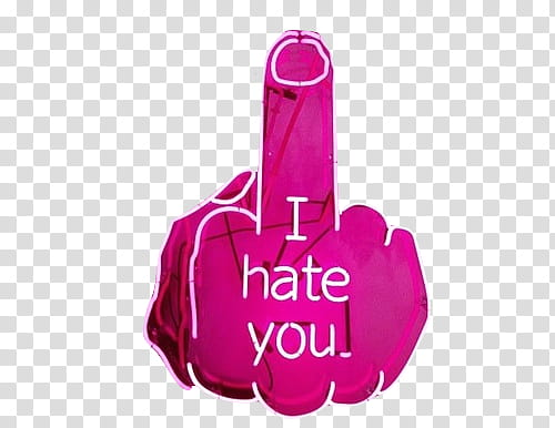 Rad , i hate you text transparent background PNG clipart.