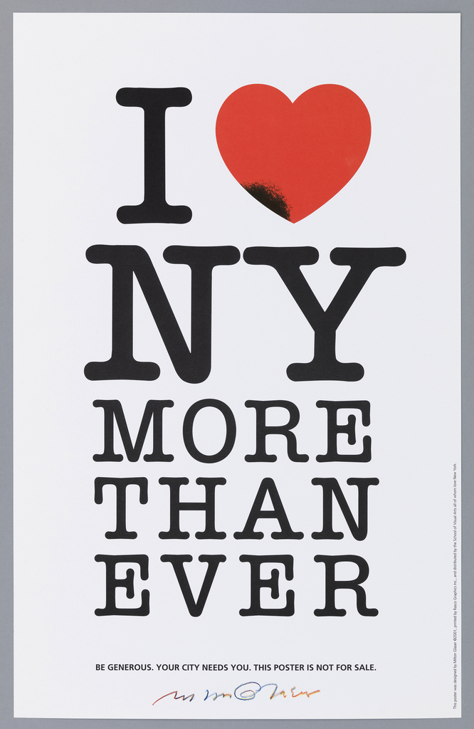 Poster, I [Heart] NY More Than Ever, 2001.