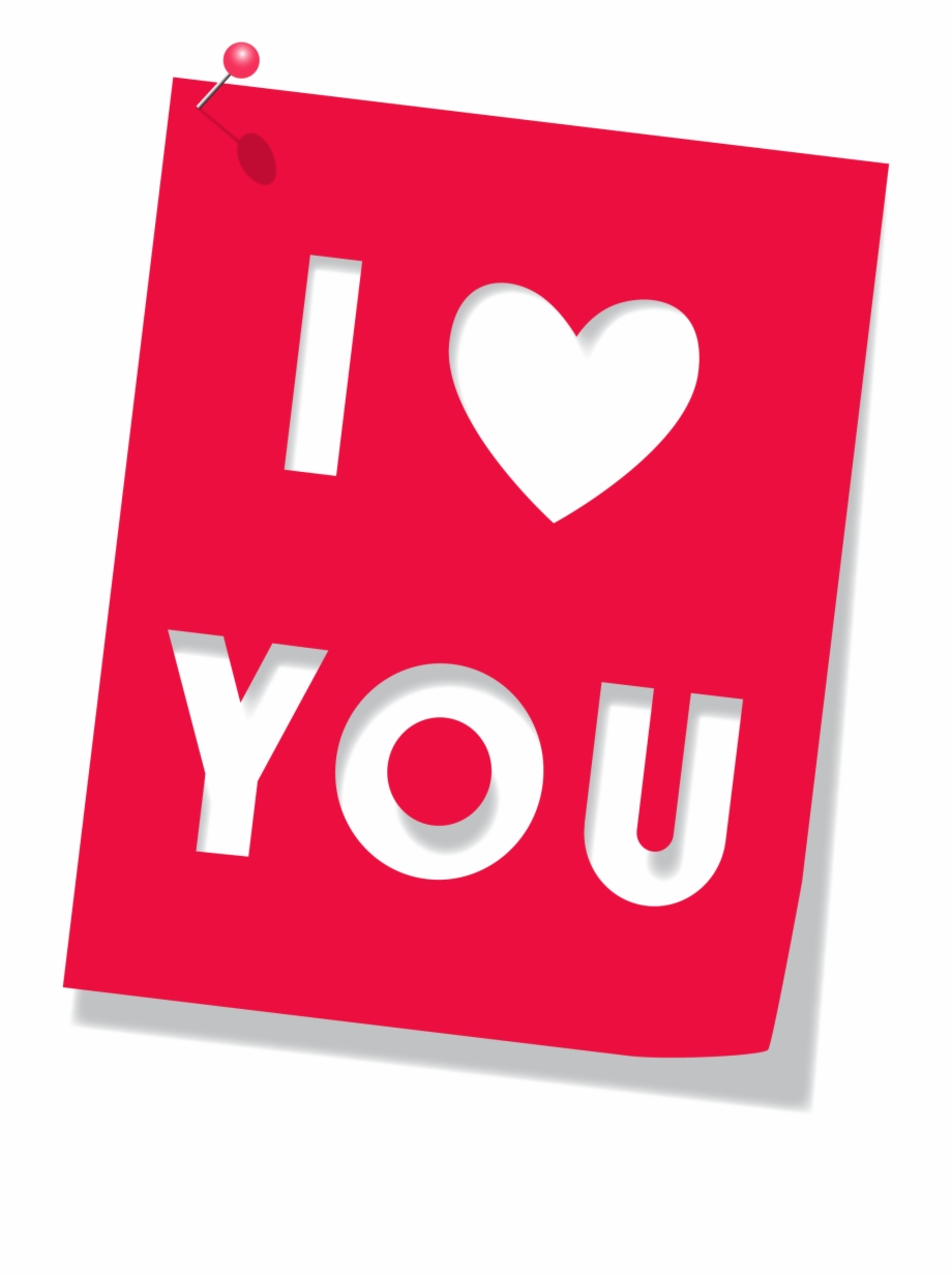 I Love You Text Vector Free Png Clipart.