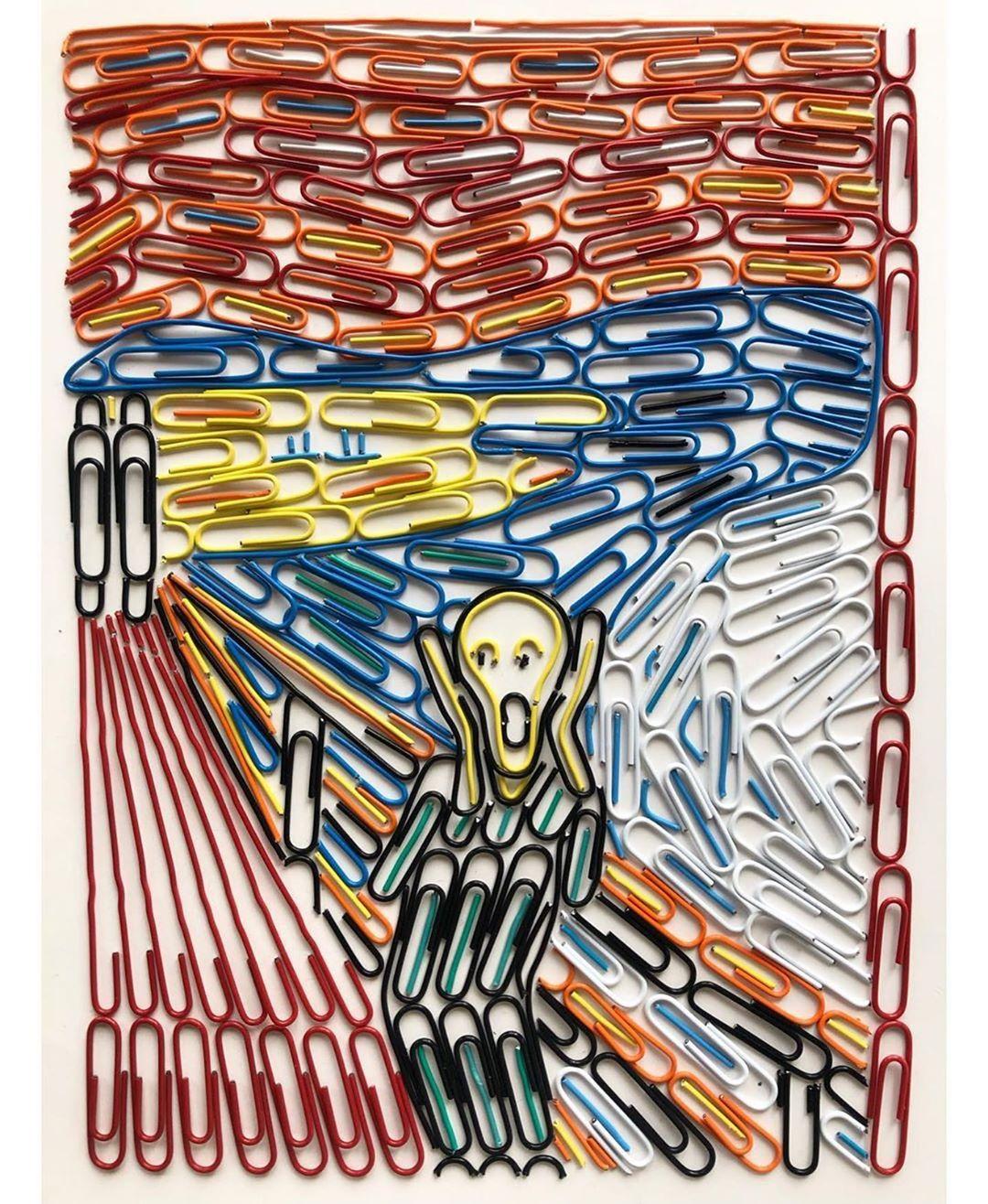 ClipArt based on Edvard Munch\'s The Scream.