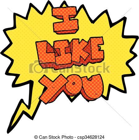I like you Clip Art and Stock Illustrations. 436 I like you EPS.