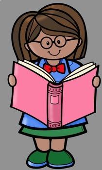 Kids Love Books Clip Art.