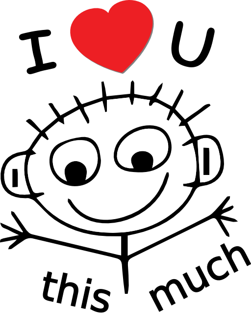 I love you this much clipart.