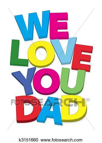 We love you dad Clipart.