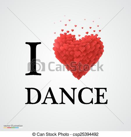 i love dance heart sign..