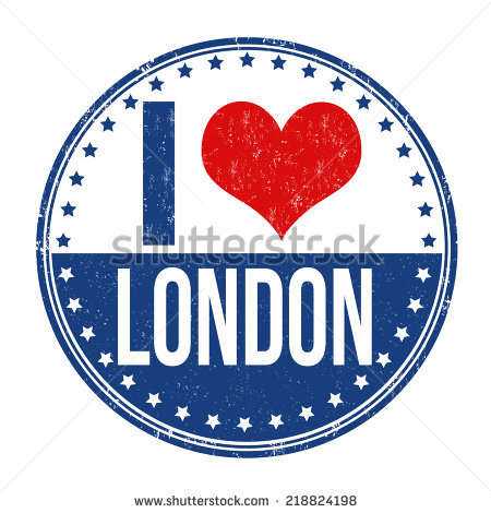 I Love London Stock Images, Royalty.