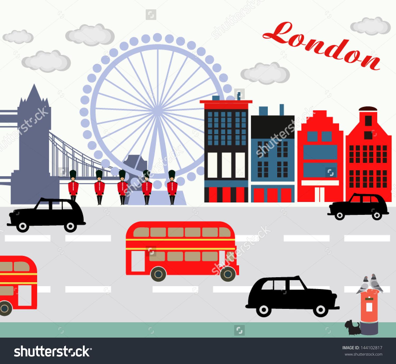 Love London Stock Vector 144102817.