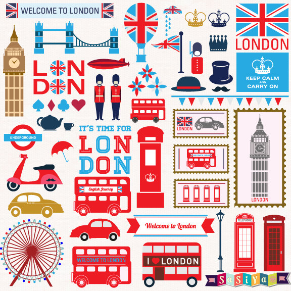 London Clip Art Set.