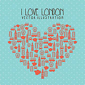 I Love London Clip Art.