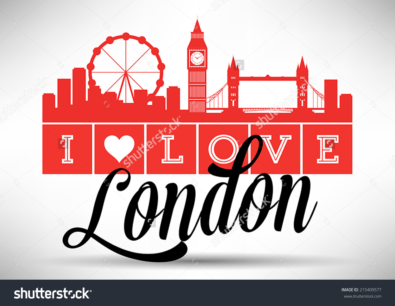 Love London Typography Design Stock Vector 215409577.