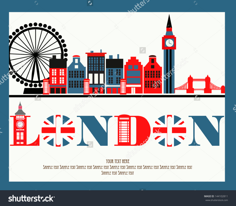 Love London Stock Vector 144102811.