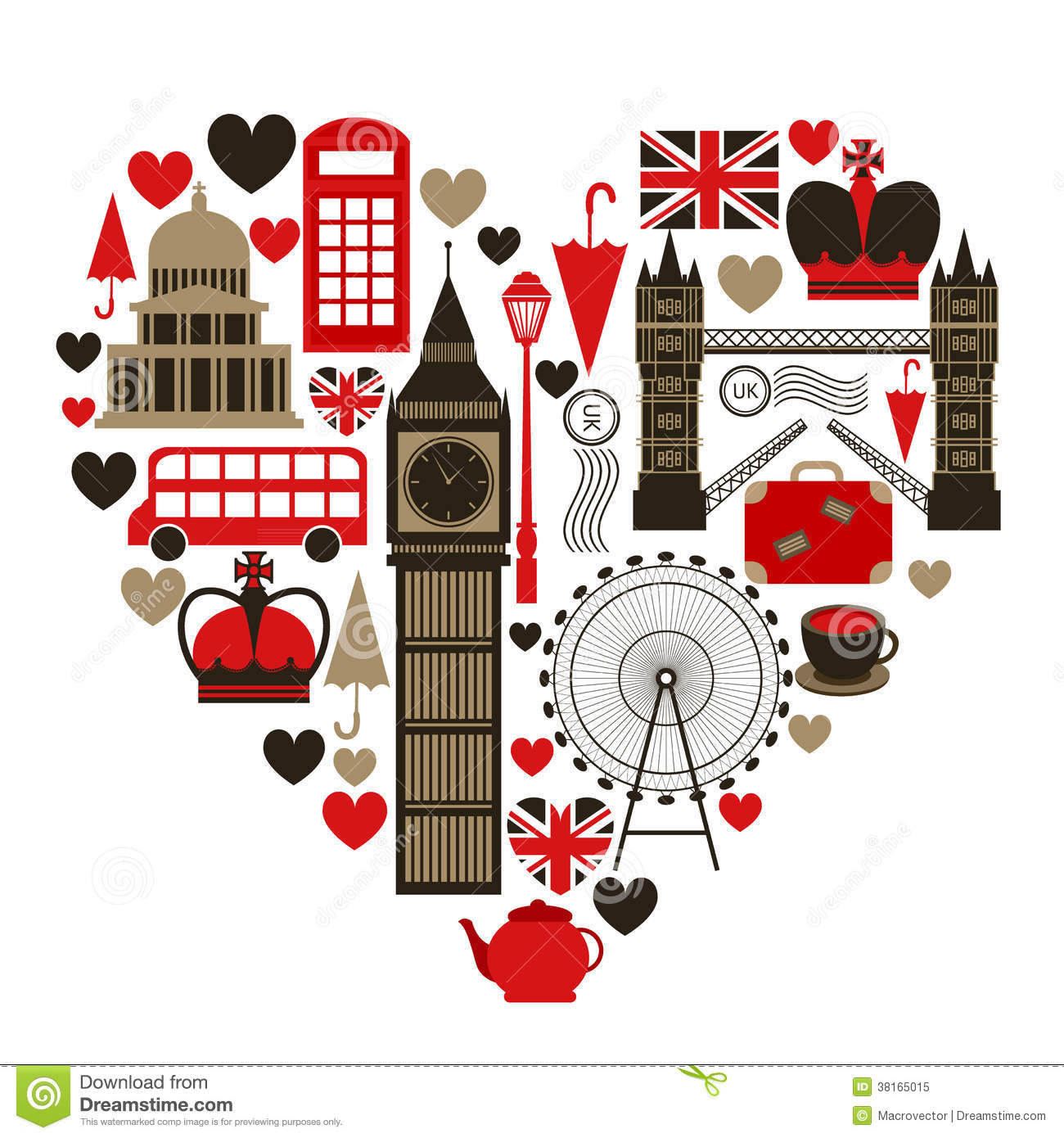 I Love London Stock Images.