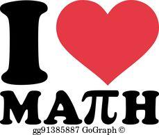 I Love Math Clip Art.