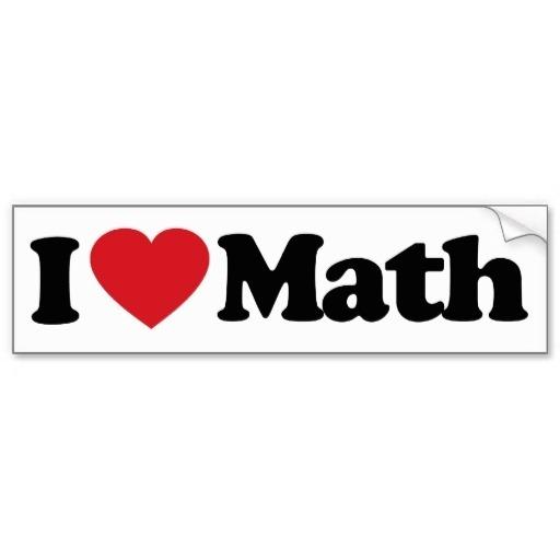 I Love Math Clipart 5.