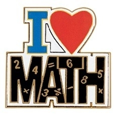I Love Math Clipart.