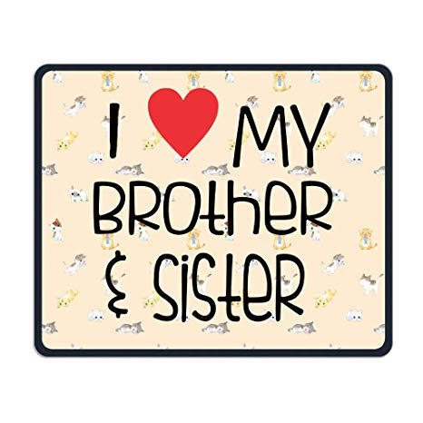 Amazon.com : Center Pad I Love My Brother And Sister Nice.