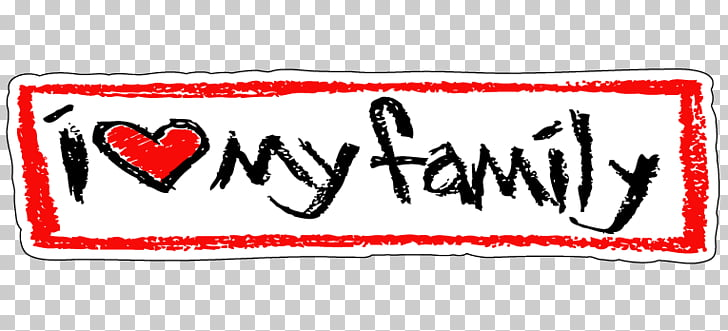 Family Love Sticker Happiness Mother, love my family PNG.