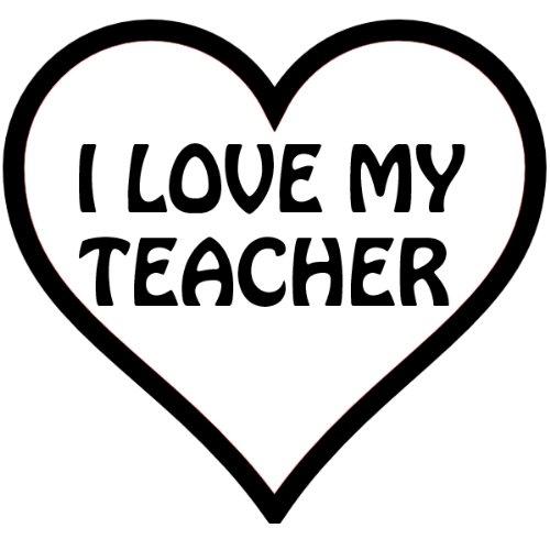 Amazon.com: I Heart My Teacher, In A Heart , Vinyl Car Decal.