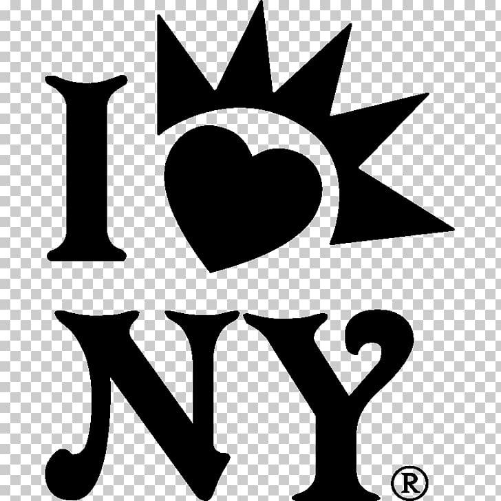 Line White , I Love New York PNG clipart.