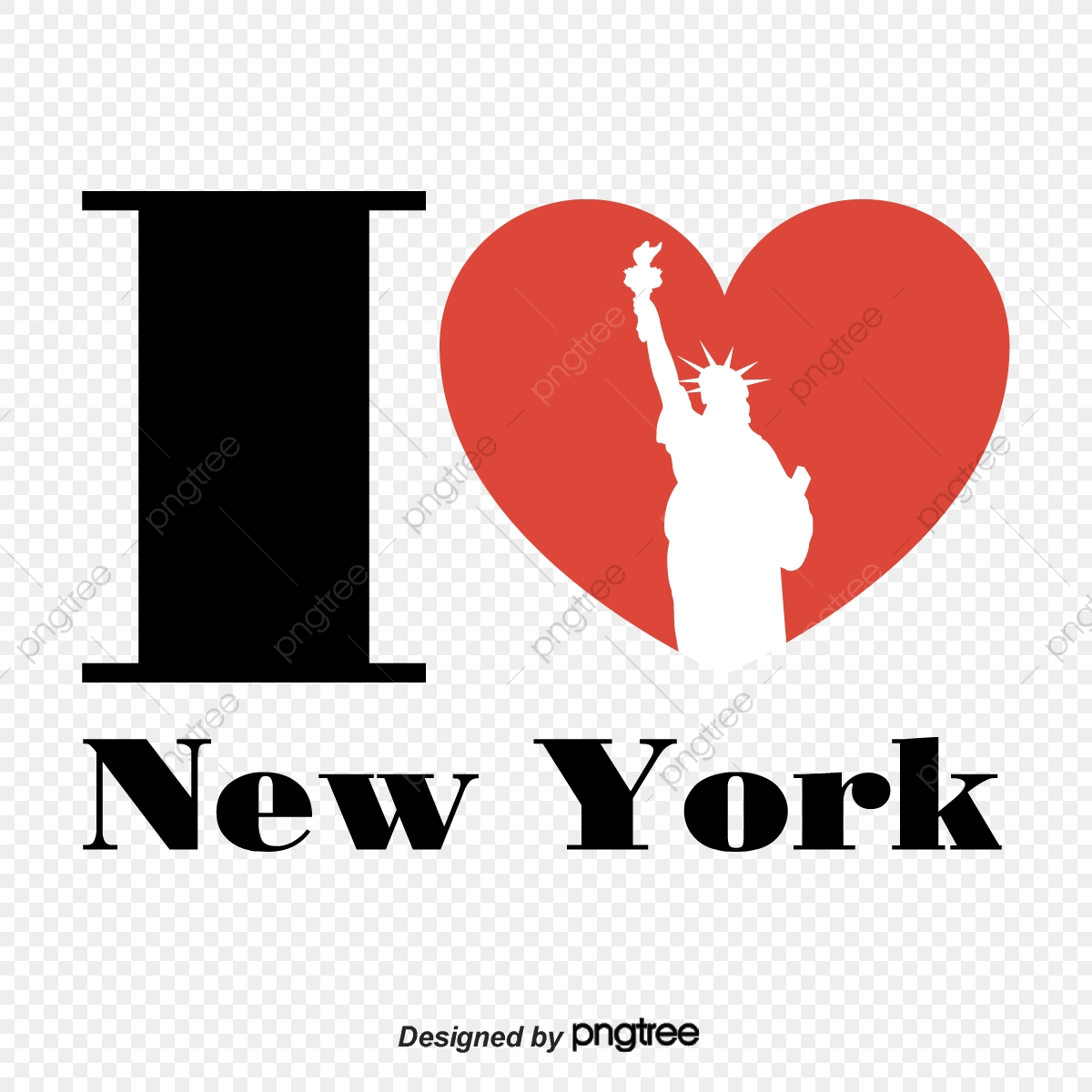I Love Heart Shaped Creative Design In New York, Landmark, I Love.