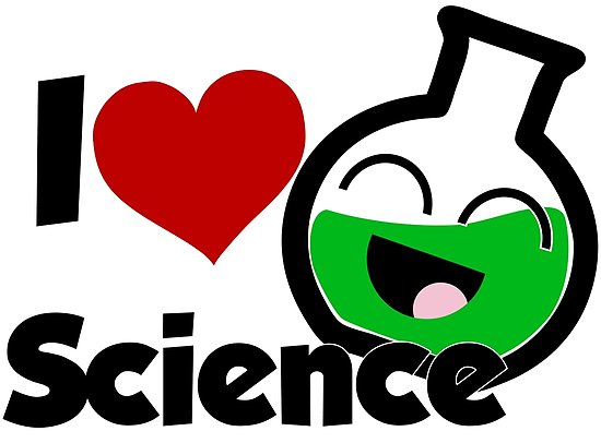 'I Love Science' Poster by 13KtDesigns.
