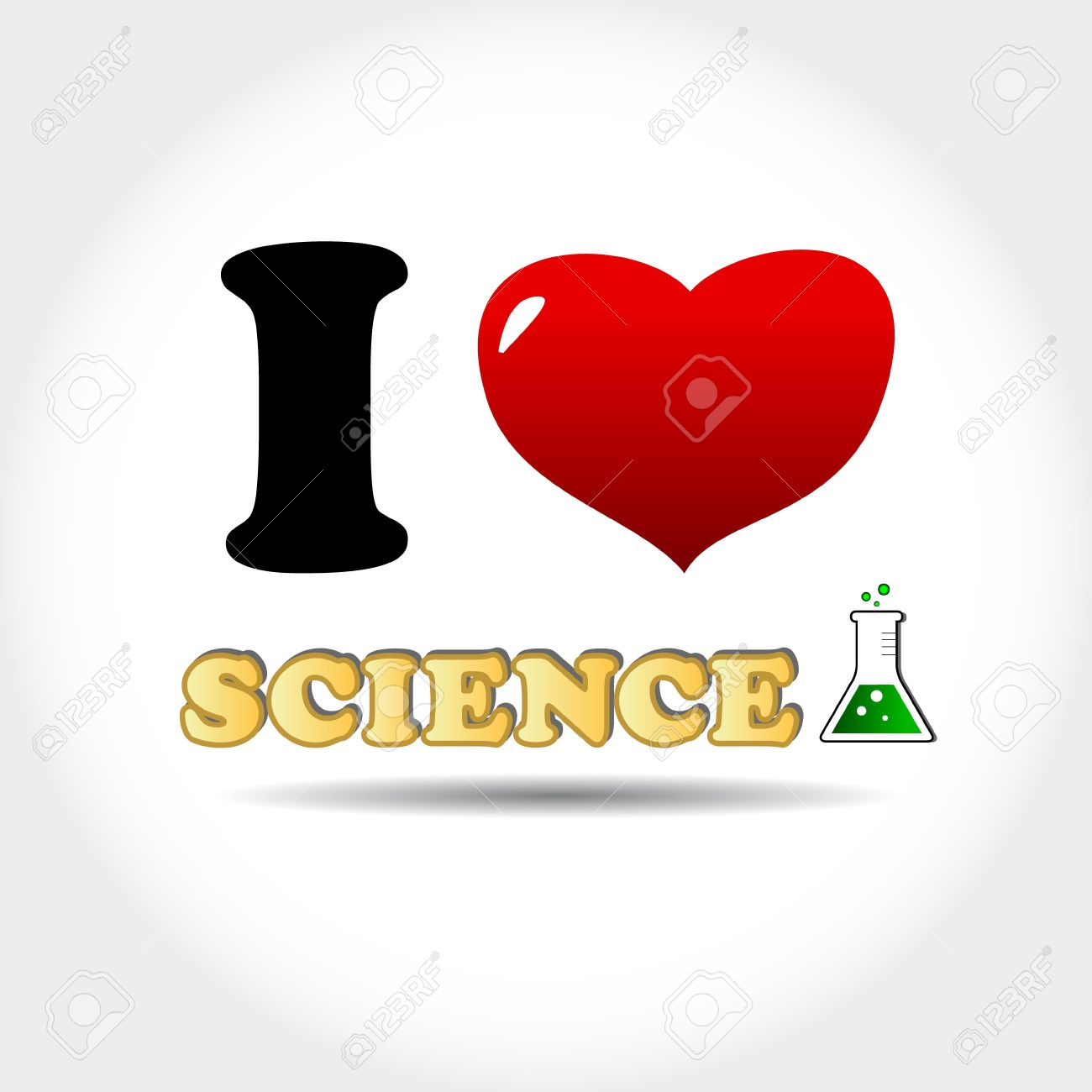 I love science icon on a white background.