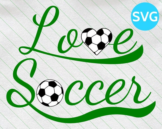 Love Soccer SVG Design.