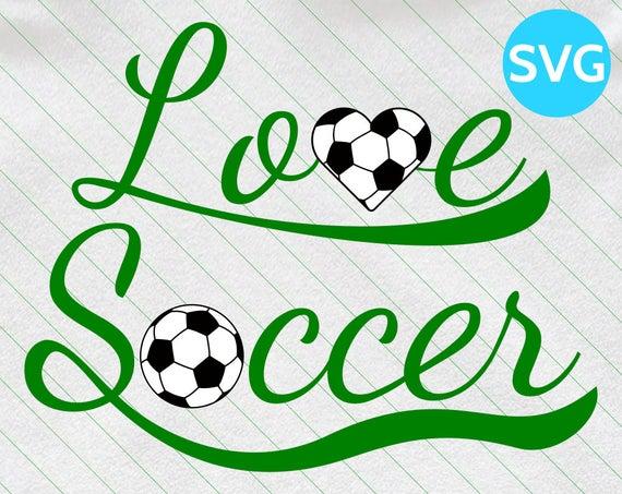 Love Soccer SVG Design.