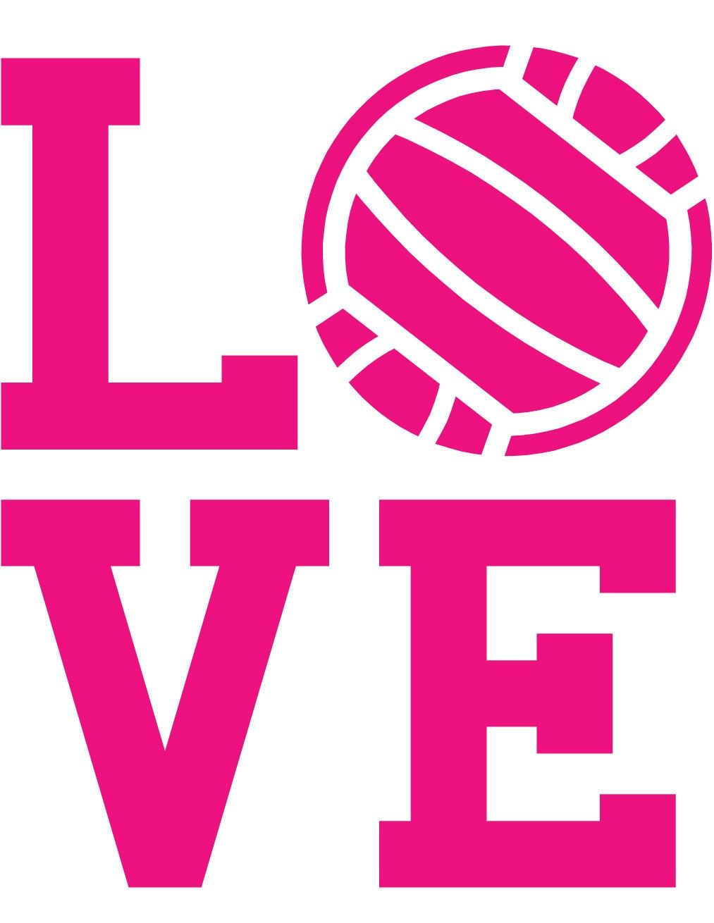 Love Volleyball Wall Decal.