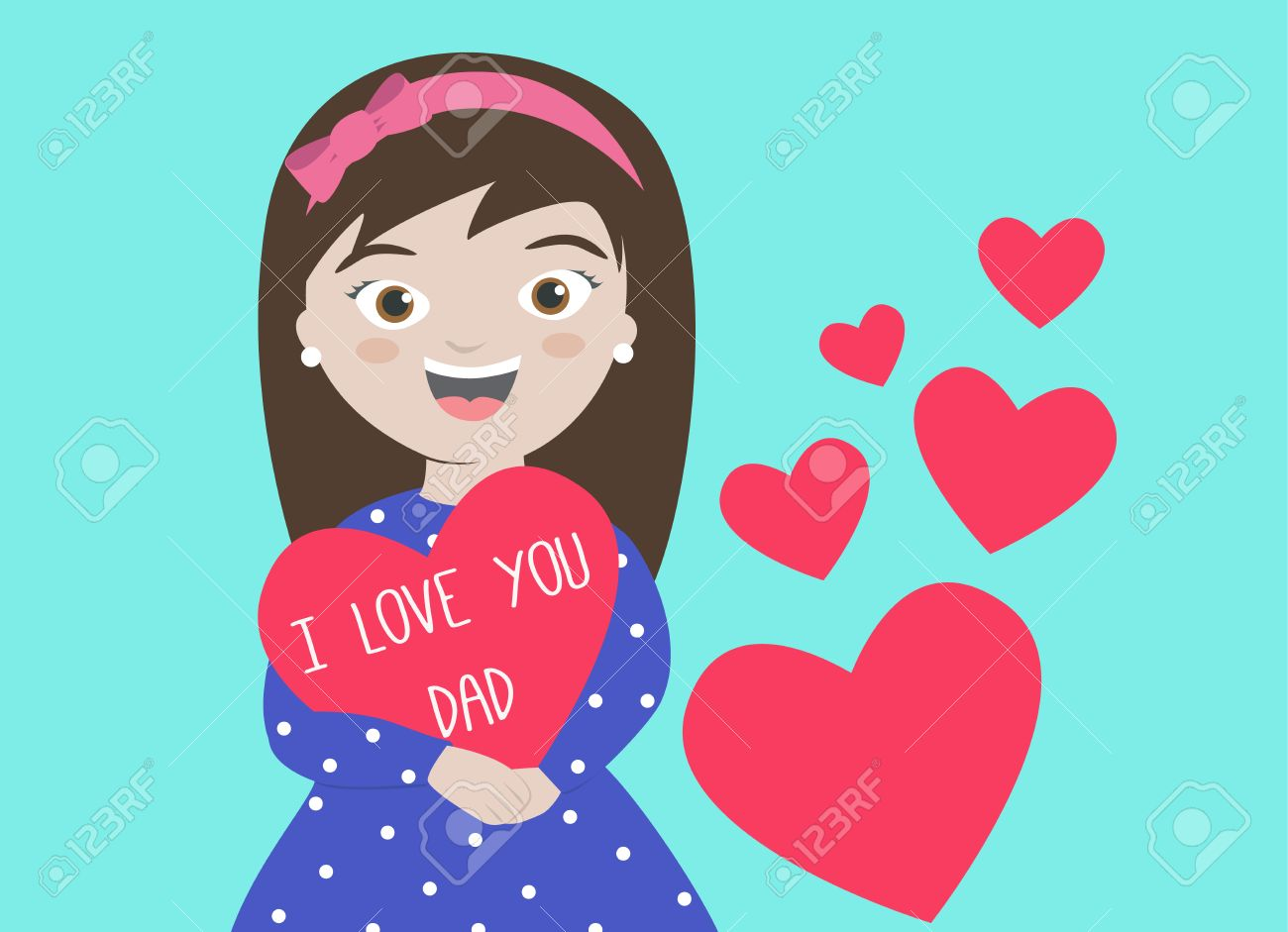 I Love You Daughter Clipart.