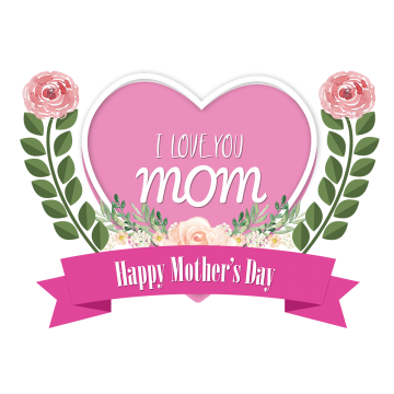 I Love You Mom Png, Vector, PSD, and Clipart With Transparent.