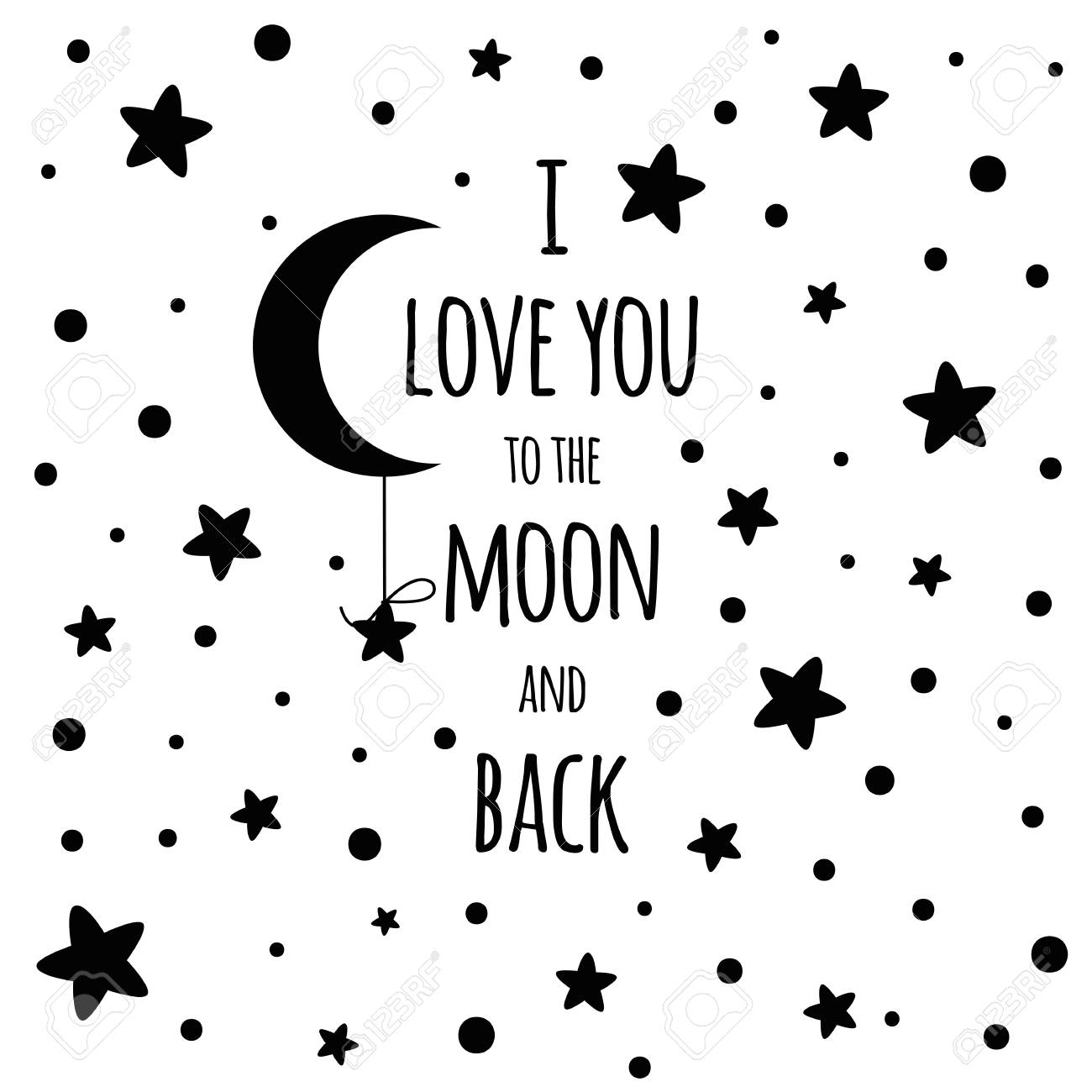 I love you to the moon and back. Love Valentines day inspirational...