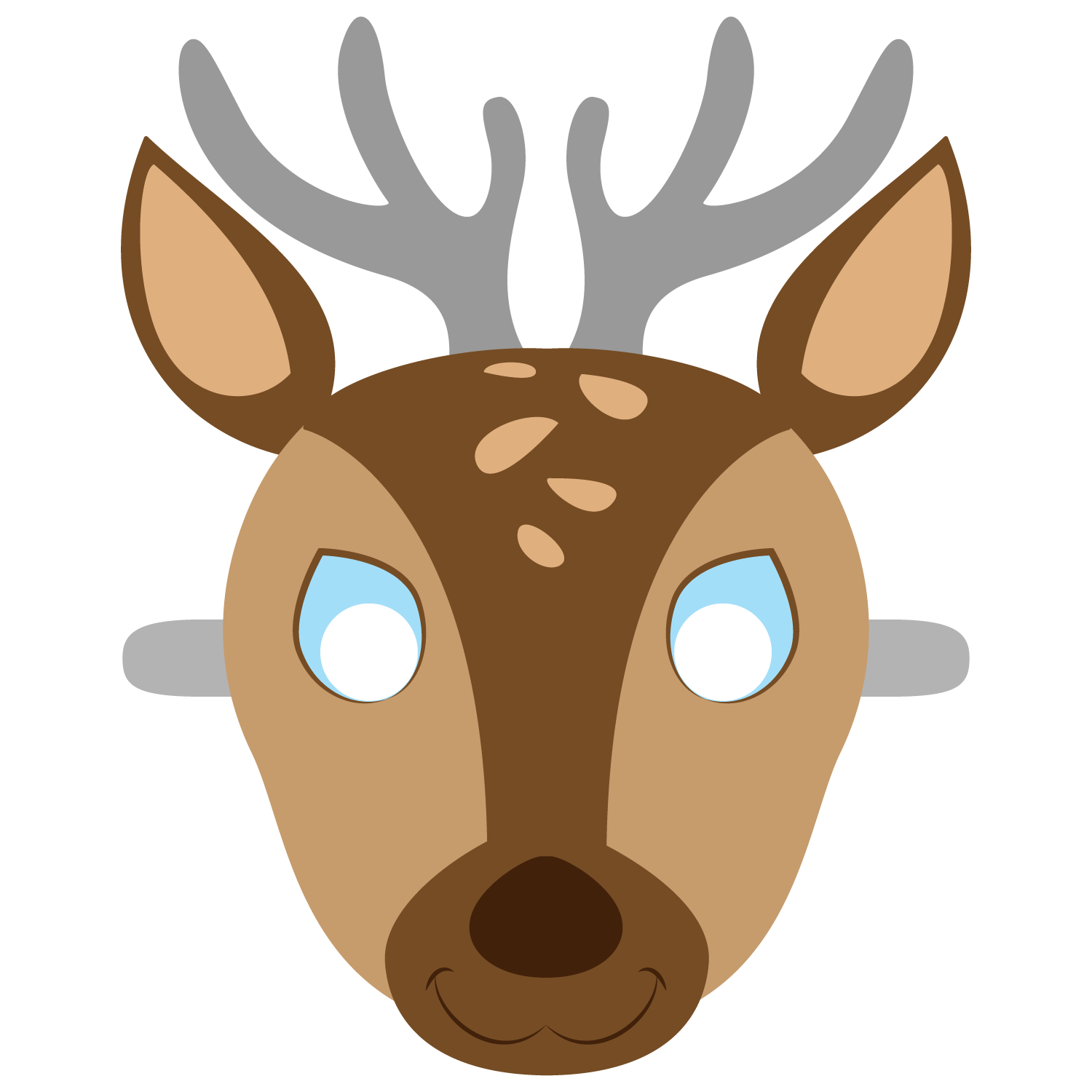 Deer Mask Template.