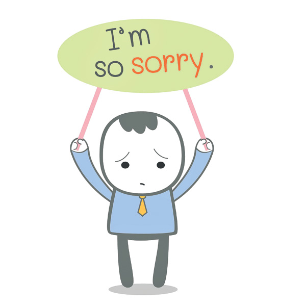 Saying I M Sorry Clipart.