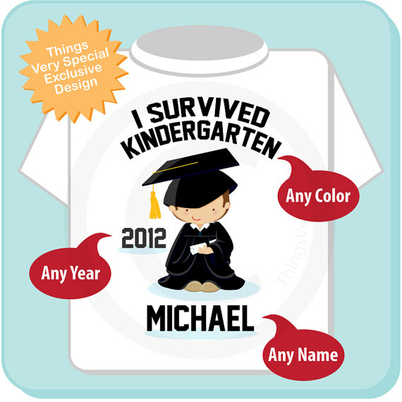 Personalized I Survived Kindergarten Shirt Kindergarten Graduate.