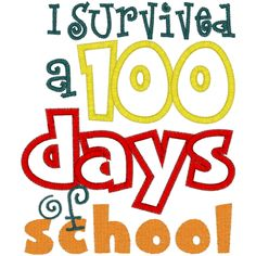 I Survived 100 days of School t shirt 100th by trendyembroidery.