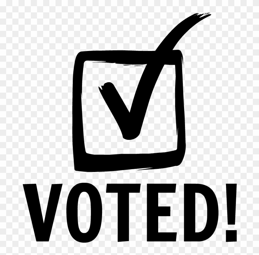 Voted Sticker Black And White , Png Download.