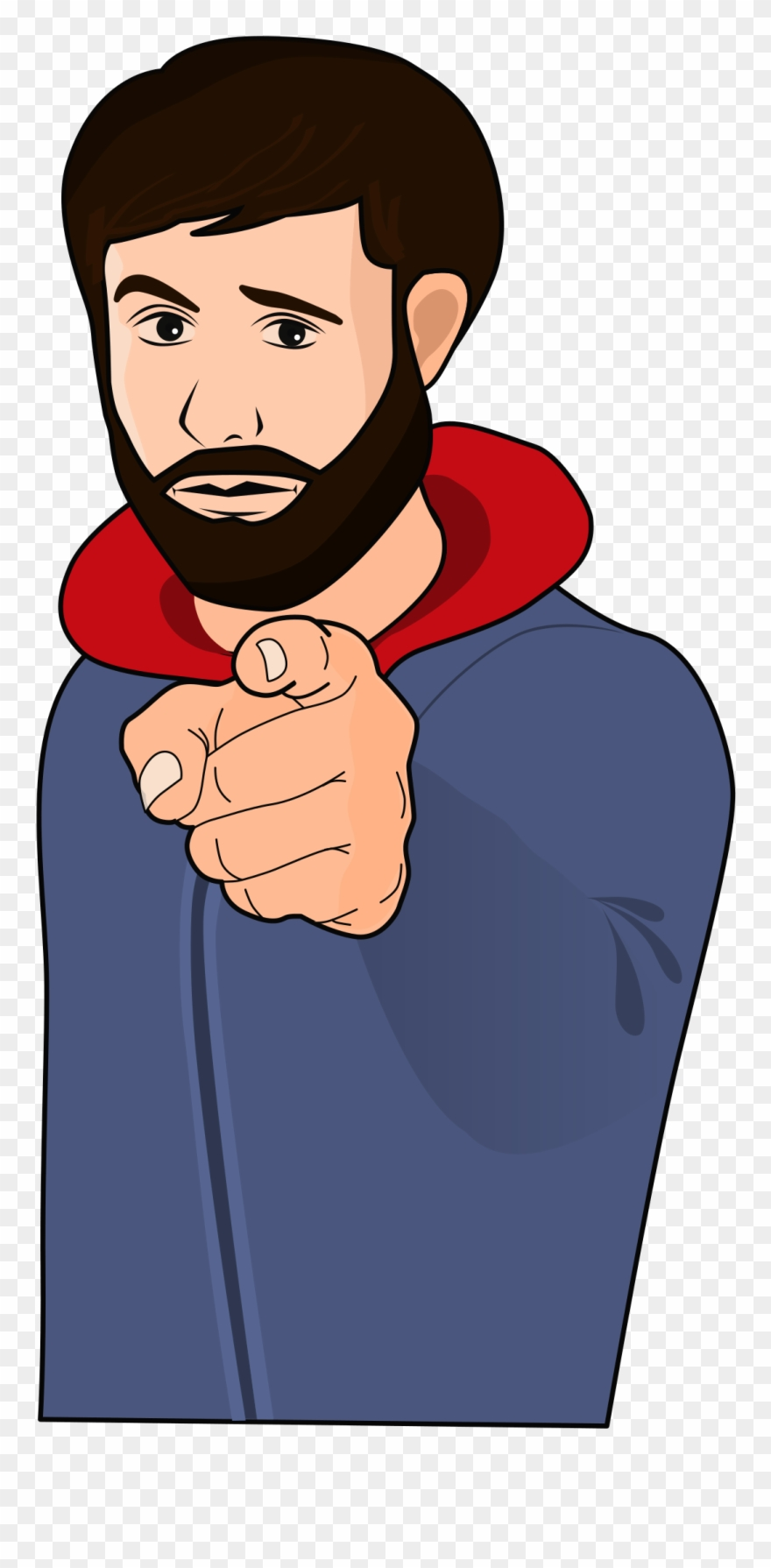 Finger Pointing At You Clip Art.