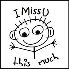 Clipart miss you.