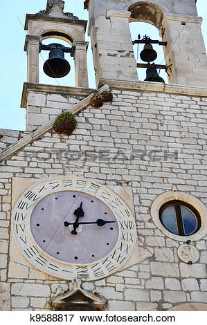 Picture of Sibenik particular clock with 24 ho k9588817.