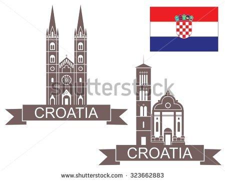 Sibenik Croatia Stock Vectors & Vector Clip Art.