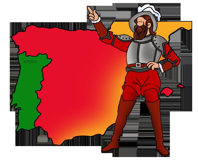 Free Explorers Clip Art by Phillip Martin, Ponce de León and Iberia.