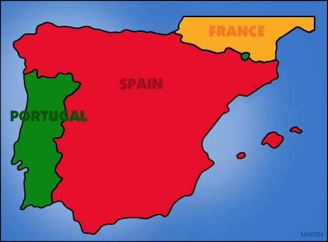 Free Explorers Clip Art by Phillip Martin, Iberian Peninsula.