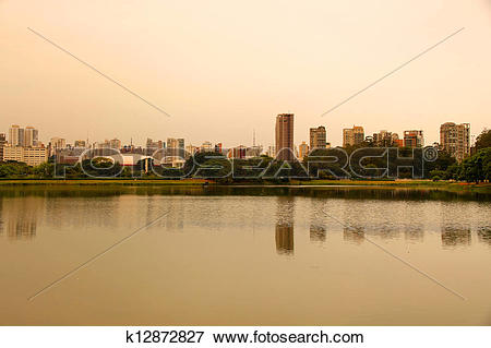 Picture of Evening in the Ibirapuera Park in Sao Paulo k12872827.
